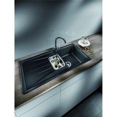 CHIUVETA DE BUCATARIE BLANCO SONA 6 S SILGRANIT SAMPANIE REVERSIBILA INCORPORABILA - Iak Sink, Home Decor, Room Decor, Sink Tops, Sinks, Home Interior Design, Countertop, Wash Stand, Home Decoration