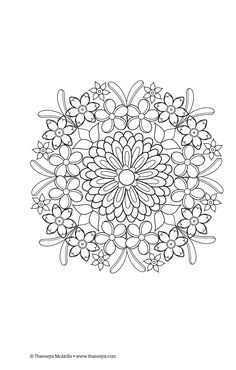 Flower Mandala Coloring Page From Thaneeya McArdles Mandalas Book