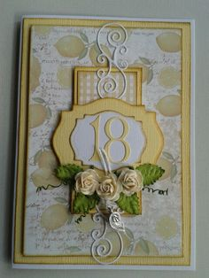 Karolines fødselsdags kort/ birthday card