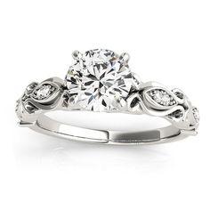 Transcendent Brilliance 14k White, Rose Or Yellow Gold 5/8ct TDW White Diamond Antique Style Engagement Ring (F-G, VS1-VS2) (White - Size 5.5), Women's