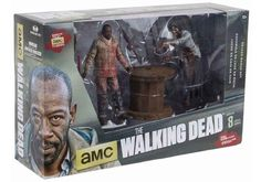 THE WALKING DEAD MORGAN AND IMPALED WALKER DELUXE BLOODY EDITION 2 PACK FROM MCFARLANE TOYS