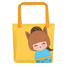 Look cute while grocery shopping with one of our tote bags!!! Chinese Horoscope Horse Kokeshi - Tote bag