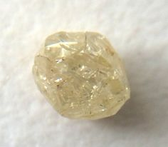 Yellow Diamond Crystal Smooth Rough Raw Diamond by gemsforjewels