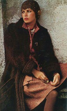 Vogue Italia 1973 Dayle Haddon Photo by Arthur Elgort 80s And 90s Fashion, Seventies Fashion, Mod Fashion, Vogue Fashion, Fashion Models, Vintage Fashion, Vintage Trends, Vintage Models, Arthur Elgort