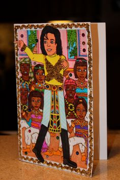 Michael Jackson 3D Greeting Card $6.50 @SheDoodled #etsy #art #illustration #original #gift