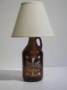 Growler Lamp Kit - turn an empty growler into a lamp!