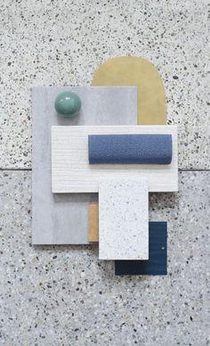 Material Mood Of The Week ~ Curvy & Simple #studiodavidthulstrup #materialmood #moodboard #inspiration #colors #interiordesign #architecture #interior #design #layering