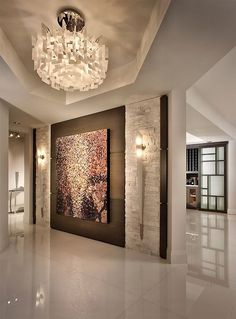 Contemporary Private Residence Palm Beach County   Contemporary   Entry    Miami   Interiors By Steven G (Wood Wall In Front Entrance Flanked By  Contemporary ...