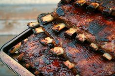 food bbq | SPICY PEACH BARBECUE SPARE RIBS