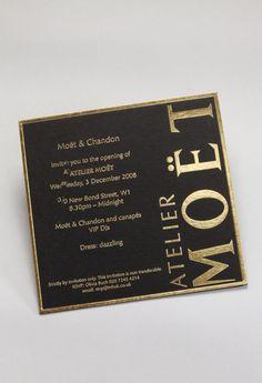 Gold Foil on 700gsm Black Card