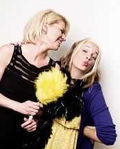 Tanya Grant of Wiggle Waggle and Cheryl Rickman, founder of WiBBLE