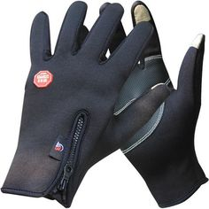 Unisex Thermal Windproof Gloves with Grip Pads - ONLY £16.20!
