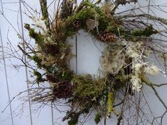 Summer Door Wreaths, Wreaths For Front Door, Holiday Wreaths, Moss Wreath, Grapevine Wreath, Fresh Wreath, Eucalyptus Wreath, Rustic Doors, Thanksgiving Wreaths