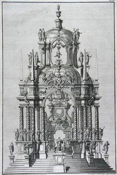 Giuseppe Galli - Bibiena    Buhnenbildentwurf