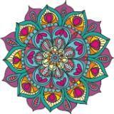 Mandala Namaste para Pared, 28 cm, troquelada por los bordes