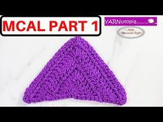 (609) How to Crochet a Triangle (Isosceles) - Part 1 of the Mystery Crochet Along - YouTube