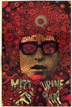 1967 poster created by Martin Sharp celebrating Bob Dylan in true fashion. Sharp originally used this image fo. Psychedelic Artists, Psychedelic Posters, Martin Sharp, Wes Wilson, Bob Dylan Poster, Hippie Posters, Band Posters, Music Posters, San Francisco