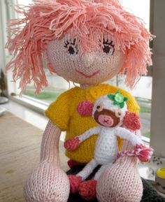 Dress-up doll, knitted. Knitted rag doll. Handmade doll, Knitted doll,  Unique doll,  Doll for girls, Arne and Carlos inspired doll