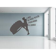 """Si crees que puedes ya estás a medio camino de lograrlo"" #vinilo Home Gym Basement, At Home Gym, Crossfit Quotes, Tennis Shop, Weightlifting Gym, Gym Interior, Gym Decor, Gym Room, Garage Gym"