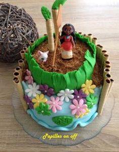 Papilles On/Off: Gâteau Vaiana (Moana) en pâte à sucre (gâteau choc...