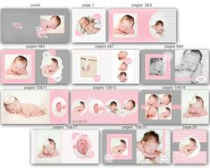 0621 10x10 Photoshop PSD Book Album Modern Chevron Template - Elena - Perfect for Wedding, Baby, Engagement - Exact Size, Whcc or Mpix