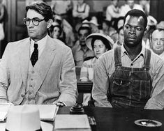 Actors Gregory Peck as Atticus Finch and Brock Peters as Tom Robinson in the film 'To Kill a Mockingbird', 1962. The story of a small-town Southern lawyer who defended an African American man accused of rape. The novel, released at the height of the Civil Rights movement, put a personal spin on tense, racial issues in the south.