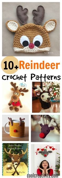 10+ Crochet Reindeer Patterns More