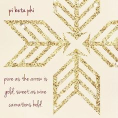 """Pi Beta Phi  """"Pure as the arrow is gold, sweet as the wine carnations hold"""" #piphi #pibetaphi"""