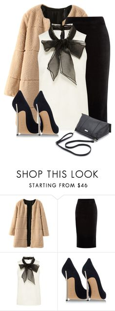 """""""Untitled #23"""" by lola-peters ❤ liked on Polyvore featuring WithChic, Warehouse, Casadei, women's clothing, women's fashion, women, female, woman, misses and juniors"""