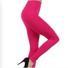 Hot pink leggings Hot pink leggings. 92% nylon, 8% spandex. NWT.      NB5 Pants Leggings