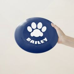 #Frisbee with a #Paw and the name of your #Dog (or any other text). If it doesn't fit, ask me to adjust it for you (no extra cost). Dog Names, Pet Gifts, Your Dog, Pets, Animals And Pets