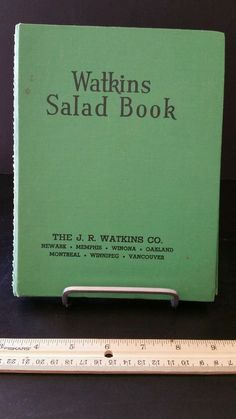 Watkins Salad Book 1946 Vintage Old Cookbook Cook recipe