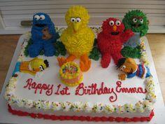 sesame street first birthday cakes | sesame streets