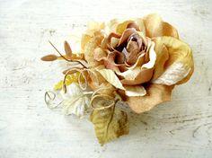 Rustic hair flower, Bridal headpiece, Fall hair accesories, Bridal hair accessories, Farmhouse wedding, Fall hair clip, Natural hairpiece
