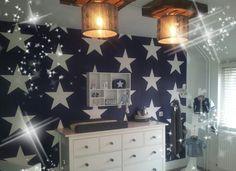 baby kamer donkerblauw met sterren