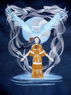 Indian Eagle Spirit Native Indian, Princess Zelda, Disney Princess, Native American Indians, Ethereal, Alaska, Nativity, Machine Embroidery, Disney Characters
