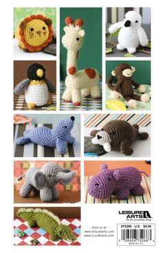 Easy Crochet Critters eBook - need to make the penguin for Aiden and the elephant for Micah. So cute!