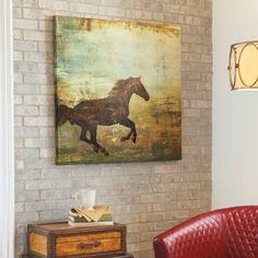 Prairie II Horse Artwork - Grandinroad