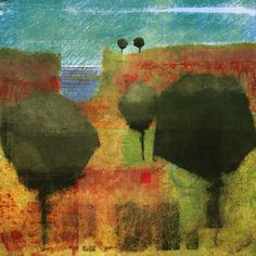 The Old Cells Studio - Michèle Brown Art: Landscape with trees - iPad painting