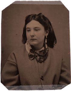 "A tintype of Pearl Starr, daughter of notorious ""Bandit Queen"" Belle Starr, and possibly the daughter of Cole Younger."