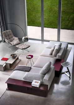 Sectional upholstered #sofa SCOTT 1235 by Zanotta | #design Ludovica+Roberto Palomba @zanotta