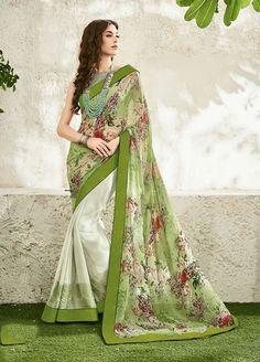 Splashy Digitally Printed Casual Wear Saree