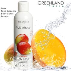 Linea #FruitExtracts Greenland, confezione da 250 ml  Il gel #scrub rimuove le cellule morte e la pelle secca, pulisce i pori e dona una sensazione di pulito.