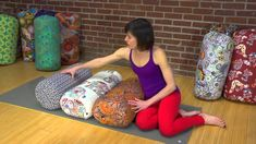 Yoga Props: How to Choose Your Perfect Bolster Yoga Videos For Beginners, Yoga Bolster, Yoga Props, Spiritual Practices, Yoga Sequences, Your Perfect, Reflexology, Acupressure, Yoga Meditation