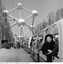 1958 Brussels, Belgium. The Atomium built for the World Expo.