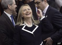 CAPTION THIS: Hillary Clinton's Just Chillin' With The Guys