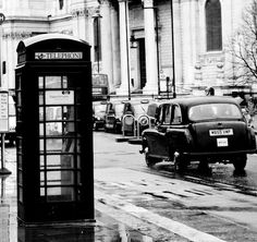 On the Streets of London   black and white  by rebeccaplotnick, $90.00