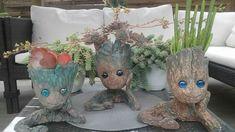 Baby Groot, Garden Sculpture, Outdoor Decor, Home Decor, Homemade Home Decor, Interior Design, Home Interiors, Decoration Home, Home Decoration