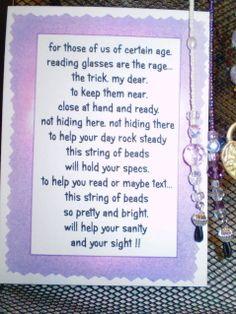 eyeglass holder poem