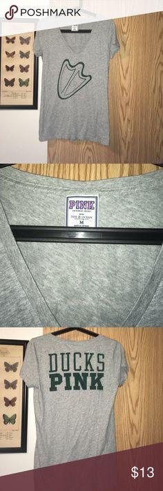 PINK By Victoria's Secret DUCKS tee Cute Oregon Ducks tee size Medium PINK Victoria's Secret Tops Tees - Short Sleeve